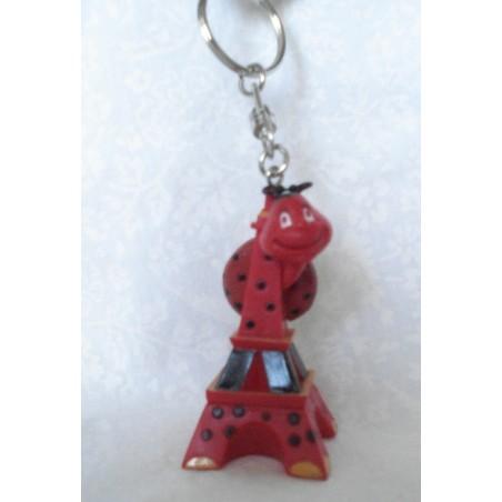 """Porte-clés Tour Eiffel """"Coccinelle"""""""