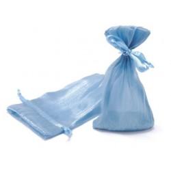 """10 Sachets en organdi """"Bleu"""""""