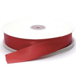 Ruban Satin double face, Rouge, 25 mm