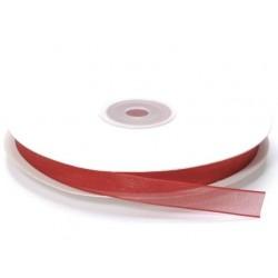 Ruban Organza, Rouge, 10 mm