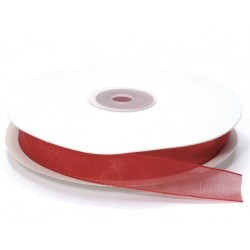 Ruban Organza, Rouge, 15 mm