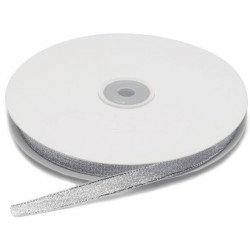 Ruban lamé Argent, 10 mm