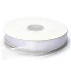 Ruban Organza, Blanc, 15 mm