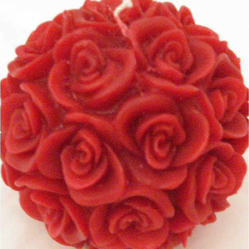 Bougie Boule de Roses Rouges