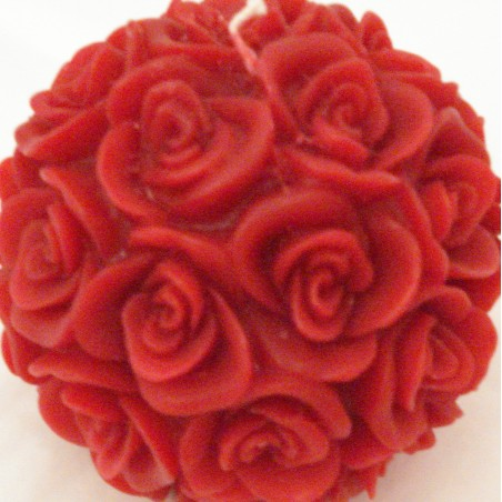 Bougie Boule de Roses Rouges