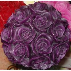 Bougie Boule de Roses Aubergine