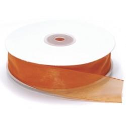 Ruban Organza, Orange, 25 mm