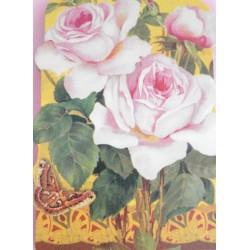 """Bloc Notes """"Roses"""""""