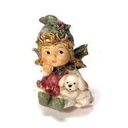 Ange d'houx avec son petit chien
