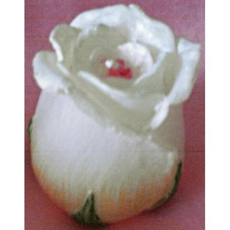 Bougie Bouton de Rose Blanche
