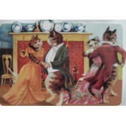 """carte double PM """"Fête des chats"""""""