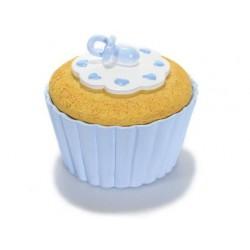 """Boîte à dragées """"Cupcake"""" Bleue"""