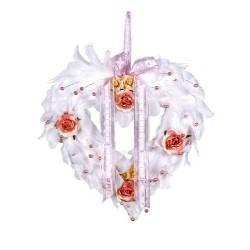 Coeur en plumes Blanches