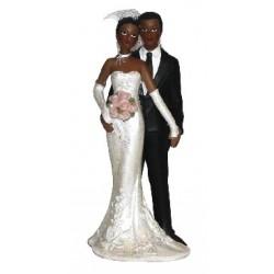 Couple de mariés de couleur