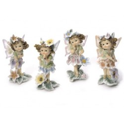 Set 4 fées avec fleurs