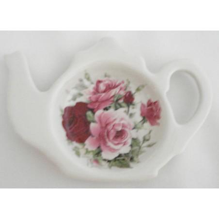 "Porte sachet à thé ""Rose"""