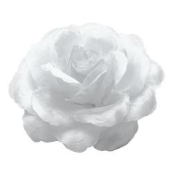 Rose en tissu blanc