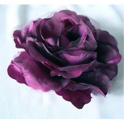 Rose en tissu violet prune