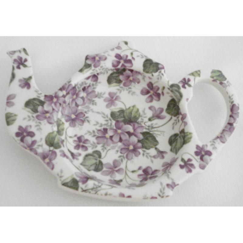 """Porte sachet à thé """"Violet Chintz"""""""