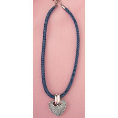 Coeur Cristal Swarovski bleu