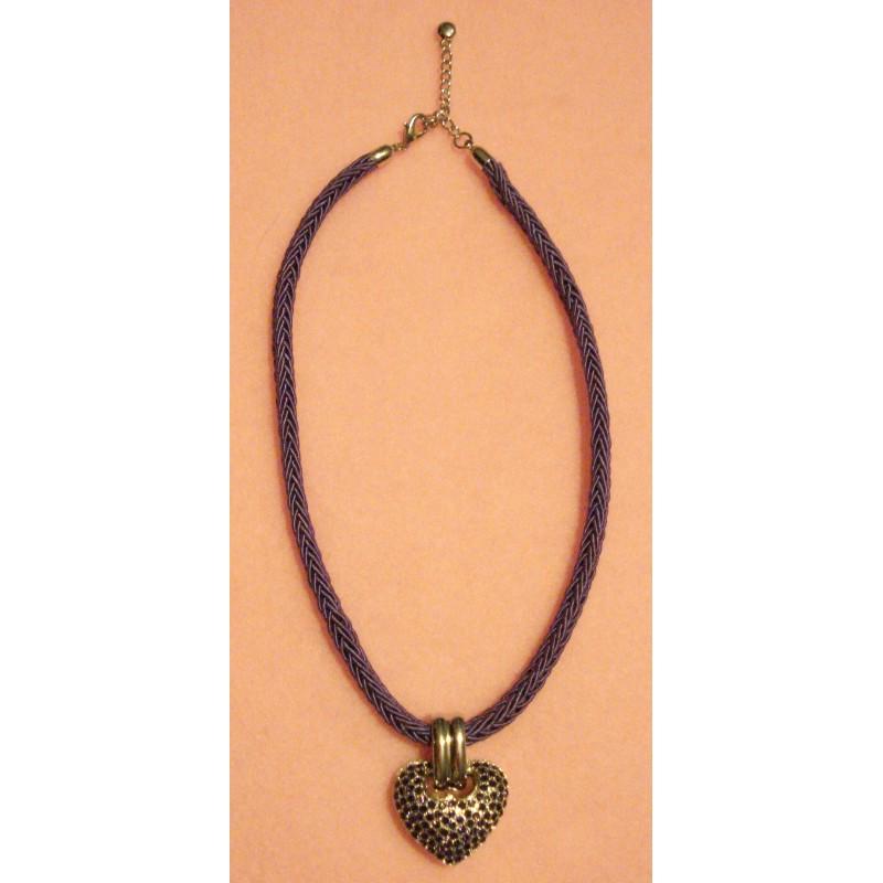 Coeur Cristal Swarovski violet