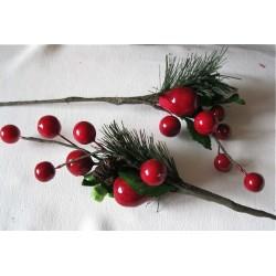 Bouquet Pin et boules rouges