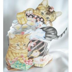 """Carte en 3D """"les 3 chats"""""""