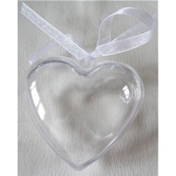 Coeur  transparent blanc