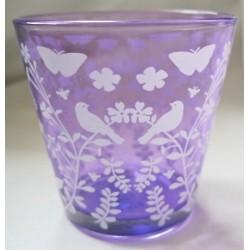 Photophore violet en verre