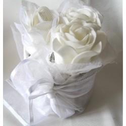 1 Bouquet de 3 Roses blanches
