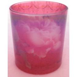 """Verre décoré """"China Rose"""""""