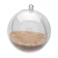 1 boule transparente
