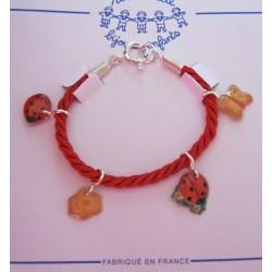 Bracelet Coccinelles