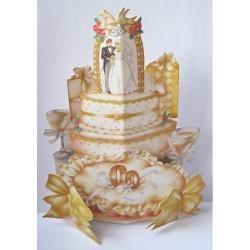 """Carte """"Gâteau de mariage"""""""