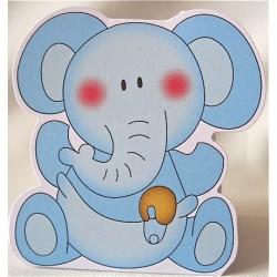 "Ballotin ""Bébé Eléphant bleu"""