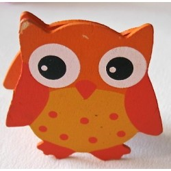"Pince mémo ""Hibou orange"""