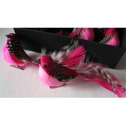 Oiseau Rose sur mini-pince