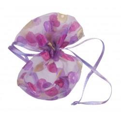 Bourse en organdi lilas...
