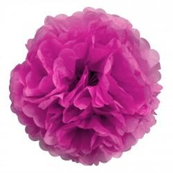 Fleur papier de soie Fuchsia