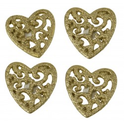 6  Coeurs Or avec sticker