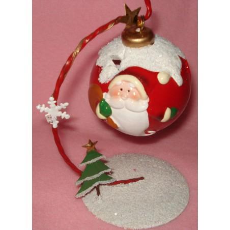 """Boule photophore """"Père Noël"""""""