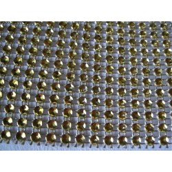 9 m Ruban strass Or,  12mm