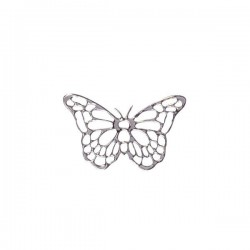 25 stickers papillon argent