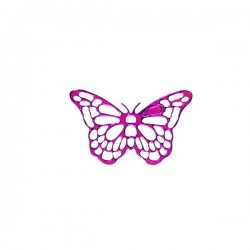 25 stickers papillon fuchsia