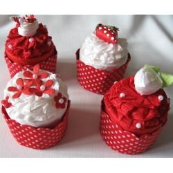 """4 Bonbonnières """"Cupcake"""""""