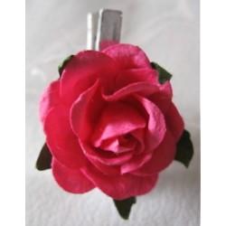 Rose fuchsia sur mini pince...