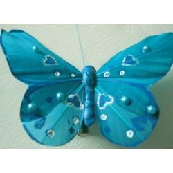 Papillon turquoise avec...