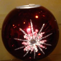 """Bougie """"Boule de Noël"""" Chauffe-plat"""