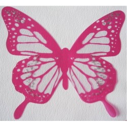 Sticker Papillon 3D  Rose