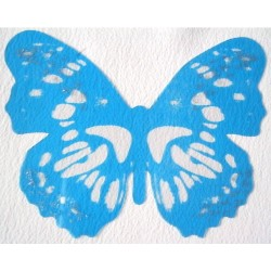 Sticker Papillon 3D  Bleu